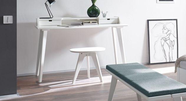 moderner sekret r und schreibtisch im retrostil buche wei narva. Black Bedroom Furniture Sets. Home Design Ideas