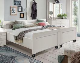 Senioren-Doppelbett Calimera in modernem Weiß