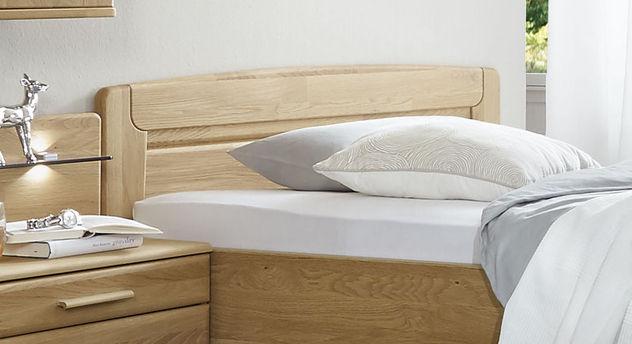 Seniorenbett Agaro mit Kopfteil aus naturfarbener Eiche