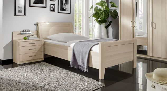 seniorenbett z b 100x200 cm preiswert edel esche dekor. Black Bedroom Furniture Sets. Home Design Ideas
