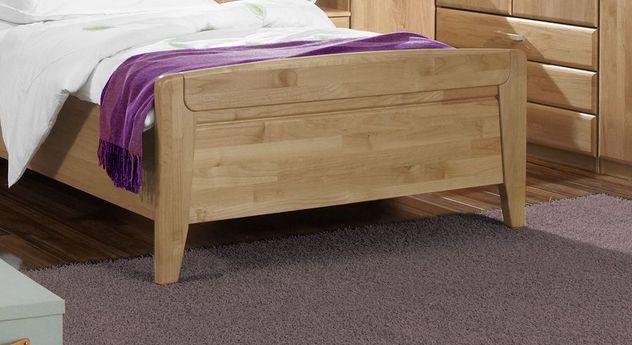 Seniorenbett Sanando mit Fußteil aus Massivholz