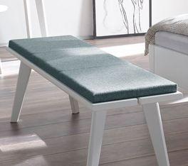 Hochwertig verarbeitetes Sitzkissen Santar aus Fischgrät-Velours