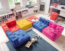 Sitzkissen-Sofa Kids Paradise mit Baumwoll-Canvas-Bezug