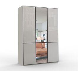 Kompakter Spiegel-Drehtüren-Kleiderschrank Loyd