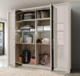 Spiegel-Falttüren-Kleiderschrank Northville mit Einlegeboden und Kleiderstange
