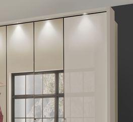 Falttüren-Kleiderschrank Northville mit vollflächiger Spiegelfront