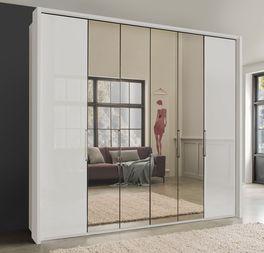 Moderner Falttüren-Kleiderschrank Westville mit vollflächigem Spiegel