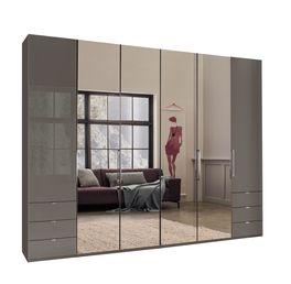 Spiegel-Funktions-Kleiderschrank Southville mit stilvollen Metallgriffen