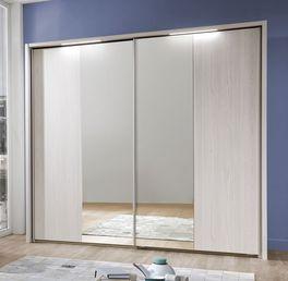 Spiegel-Kleiderschrank Apolda mit leicht montierbarem Rahmen