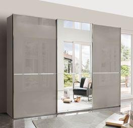Spiegel-Kleiderschrank Butaco mit attraktiver Glasfront