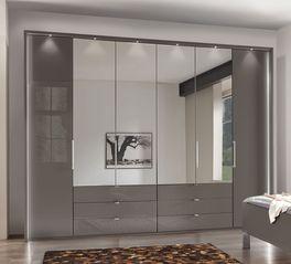 Spiegel-Kleiderschrank Harrow mit eleganter Beleuchtung