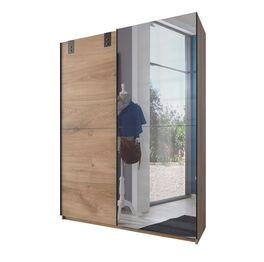 Spiegel-Schwebetüren-Kleiderschrank Nolan in kompakter Größe