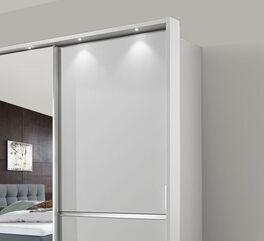 Spiegel-Schwebetüren-Kleiderschrank Tanaria optional mit LED Beleuchtung