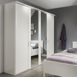 Spiegeltüren-Kleiderschrank Calimera inklusive Metallgriffe