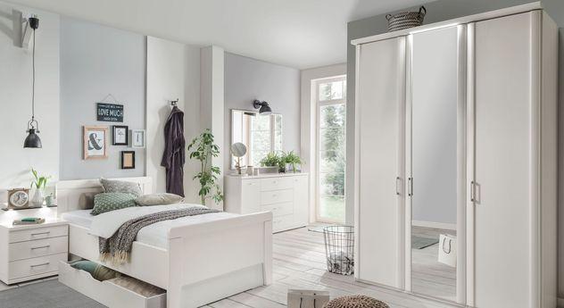 wei er kleiderschrank mit spiegel g nstig calimera. Black Bedroom Furniture Sets. Home Design Ideas
