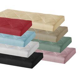 Stoffbezogene Matratze Elvio aus Microvelours oder Webstoff