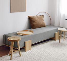 Tagesbett Capena mit robustem Webstoff-Bezug