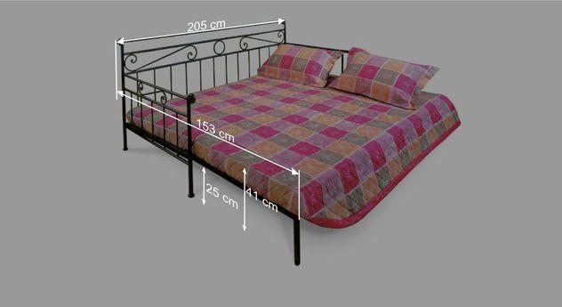 nostalgisches tagesbett aus metall 80x200 cm plata. Black Bedroom Furniture Sets. Home Design Ideas