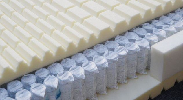 Querschnitt der Taschenfederkern-Matratze orthowell Premium 1000 für Seitenschläfer