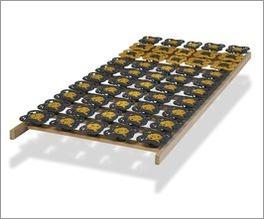 Tellerlattenrost modulflex mit Federwirkung auf der Liegefläche