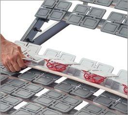 Tellerlattenrost Platoflex mit flexibel austauschbaren Modulen