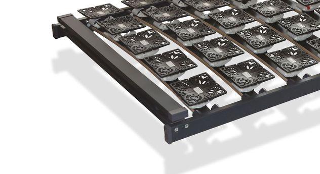 Belastbarer Tellerlattenrost youSleep mit hochstabilem Rahmen