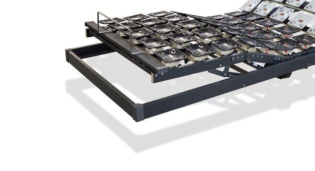 Tellerlattenrost youSleep Motor mit praktischer Haltestange für Matratzen