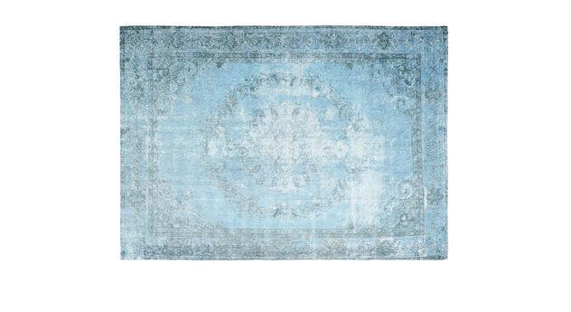 Strapazierfähiger Teppich Royal türkis im Vintage-Look