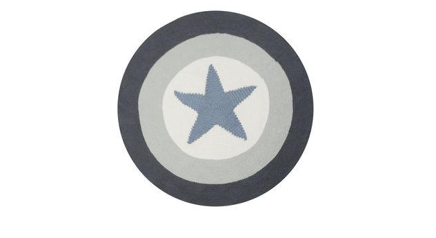 LIFETIME Teppich Stern mit grauem Kreise-Muster