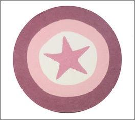 LIFETIME Teppich Stern in Rosé fürs Mädchenzimmer