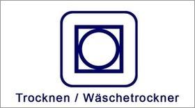 Textil-Pflegesymbol Trocknen Wäschetrockner