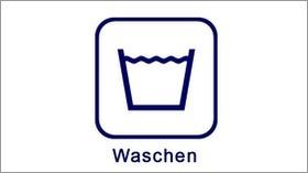 Textil-Pflegesymbole Waschen