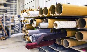 Textilveredelung von Stoffen in einer Farbrik