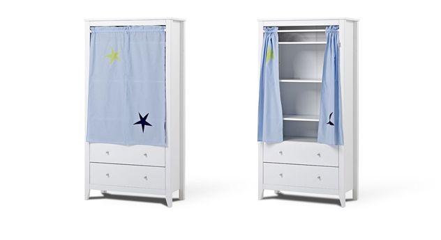 Vorhang-Kleiderschrank Kids Heaven im Weltraum-Dessin