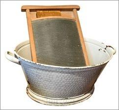 Wäsche waschen früher ohne Waschmaschine Textilpflege
