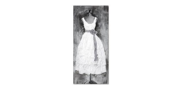 Wandbild Dress weiß mit extravagantem 3D-Effekt