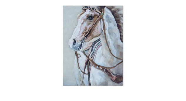 Handgefertigtes Struktur-Wandbild Horse
