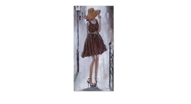 Stilvolles Wandbild Shy aus Acrylfarben