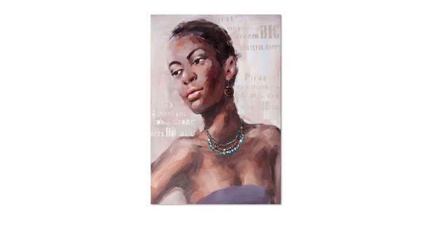 Wandbild Woman II in gedeckten Acrylfarben