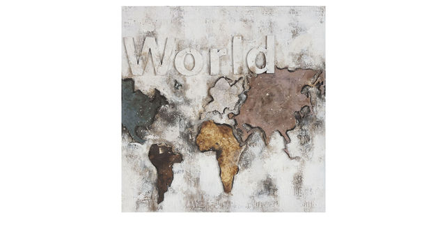 Rustikales Wandbild World II im Vintage-Style
