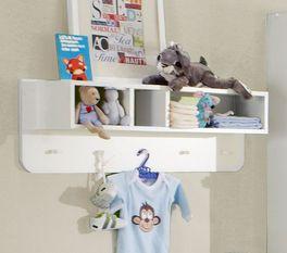 Wandregal mit Garderobe Los Pinos für Kinder- und Babyzimmer
