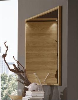 Wandspiegel Praia mit Spiegelglas auf vollflächiger Holzplatte