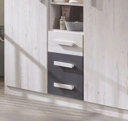 Wickelkommode Mereto mit praktischen Schubladen und Fächern