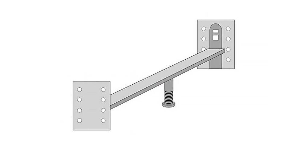 MUSTERRING Verbindungsbeschlag für zwei Einzelbetten