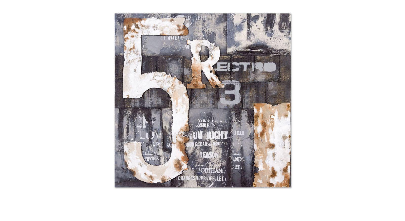 Modernes Wandbild Letters II ist von Hand gefertigt