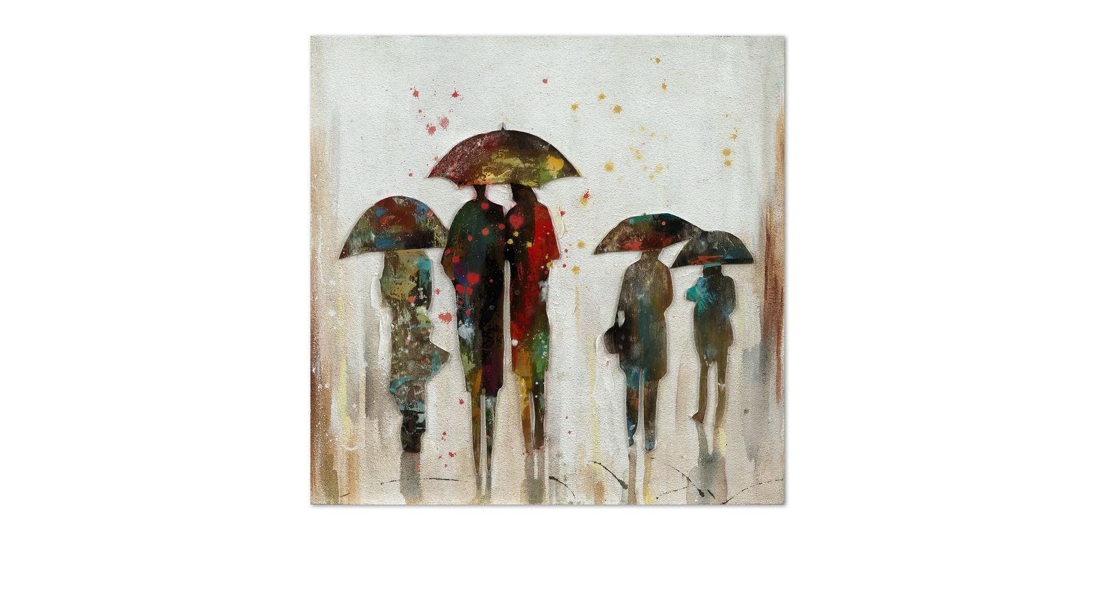 Modernes Wandbild Rain auf Leinwand