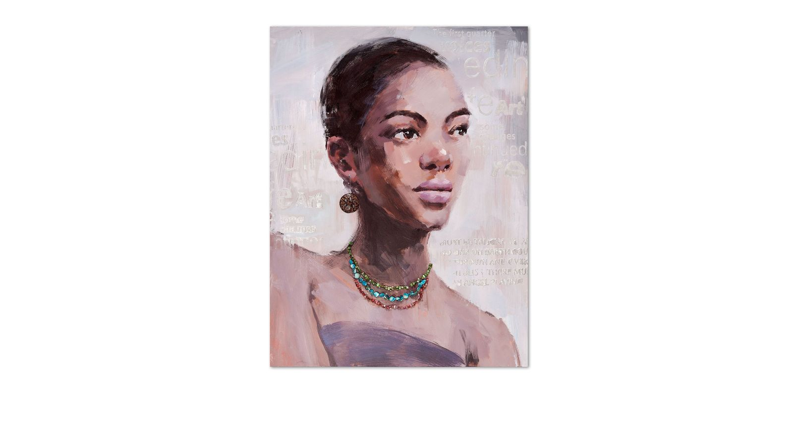 Wandbild Woman I in schlichter Farbgebung