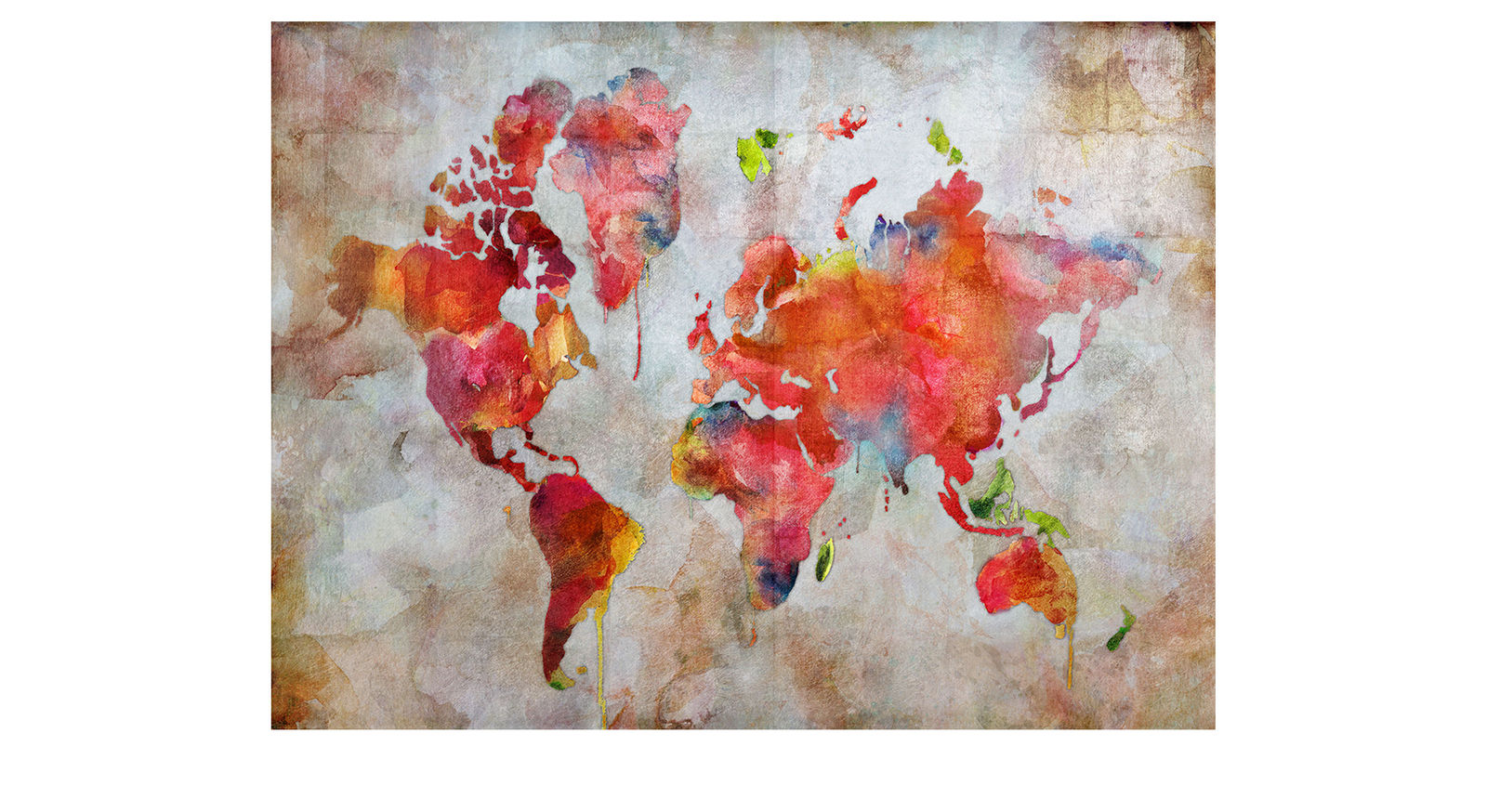 Farbenfrohes Wandbild World I im XXL-Format