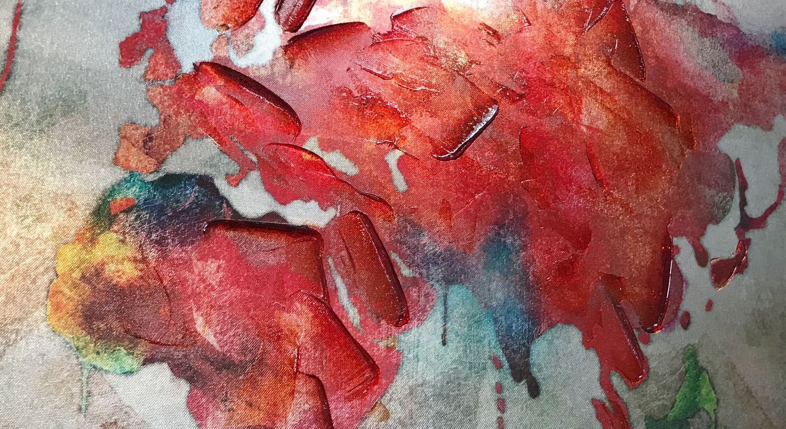 Wandbild World I mit rauer Oberfläche