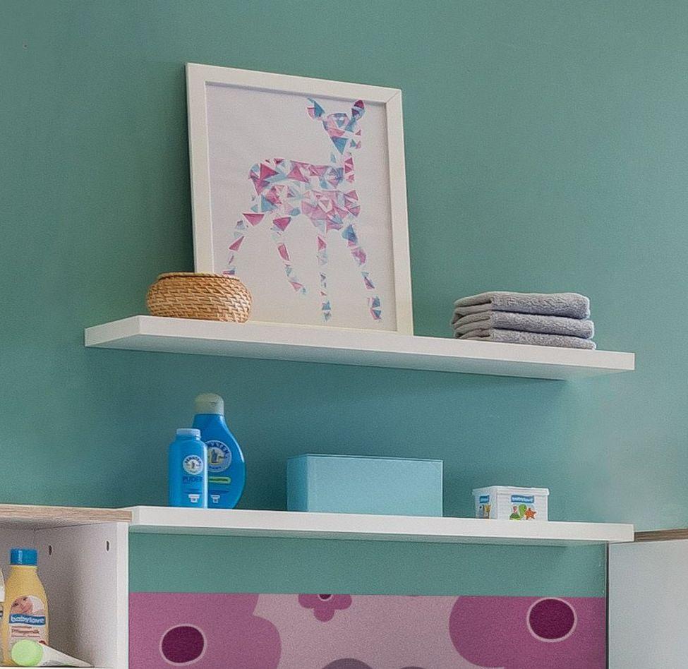 wandboard in wei 78 cm breit mit unsichtbarer montage beano. Black Bedroom Furniture Sets. Home Design Ideas